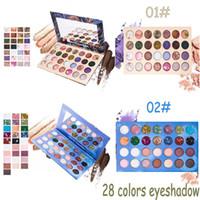 Yeni 28 Renkler Göz Farı Paleti Moda Mermaid ve Cadı Pırıltılı Mat Göz Farı Paleti Pro Kozmetik Makyaj Aracı Güzellik