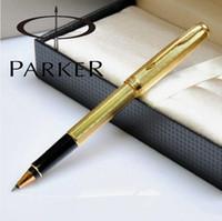 Livraison gratuite de haute qualité d'origine Parker Sonnet Pen Holder Métal rapide stylo à bille écriture d'affaires stylo d'écriture