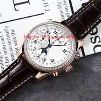 Diamante caliente Master Collection reloj para hombre 18k de oro rosa pulsera suizo 7751 del calendario anual del cronógrafo automático de fase lunar Sapphire