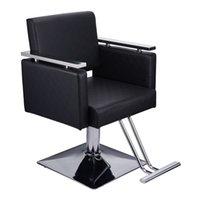 WACO بوتيك كرسي الحلاق، الجلود مربع قاعدة تصفيف الشعر أثاث الجمال سبا تصفيف المعدات الحديثة شامبو كراسي أسود