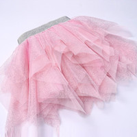 Girls pettiskirt baby tutu skirts pink tulle puffy skirts to...