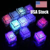 지도된 아이스 큐브 빛 당 밤 빛 느린 번쩍이는 7 색깔 변화 led 램프 수정같은 입방체 발렌타인 데이 당 결혼식 휴일 빛