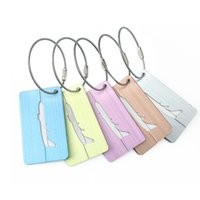 5 couleurs Valise Bagage Etiquettes Tags Airplane Sac à main Pendentif ID Identifier le support d'étiquettes pour les cadeaux de voyage