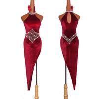 Bayanlar Için yüksek Kaliteli Latin Dans Elbiseler Bordo Zarif Saçak Etek Kadın Sahne Balo Salonu Kadınsı Kostümleri Yarışmak