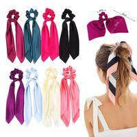 21 style Ponytail liens cheveux corde élastique scrunchie écharpe cheveux pour les filles des femmes Bow Ties Bandeaux fleur du ruban d'impression de Noël Bandeaux B