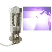 Автомобильный дизайн светодиодные фары H1 H3 80W Hip Туман Лампа 16SMD вождения свет лампы Auto