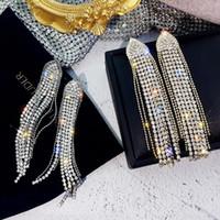 S928 Hot Fashion Jewelry S925 silberne Nadel Lange Ohrringe Rhinstone Quasten baumeln Ohrstecker