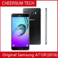 all'ingrosso sbloccato Rinnovato originale Samsung Galaxy A7 A7100 2016 singola SIM del telefono cellulare Octa Nucleo 3GB / 16GB 5,5 pollici 13 MP 4G LTE DHL