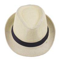 Moda Hasır Şapka Fedora Yumuşak Erkekler Kadınlar Yaz Plaj Güneş Hasır Cimri Brim Şapka açık Caps 600pcs T1I1989