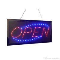 LED Ouvrir un panneau ouvrant pour les affichages de l'entreprise Open LED LED Neon Business Motion Motion Light. Marche / arrêt avec chaîne