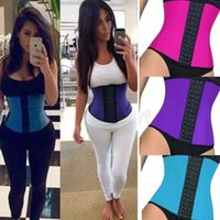 أسود الجسم للتنحيف الخصر المدرب النساء سليم للياقة البدنية Cincher الخصر حزام Shaperwear زائد الحجم الأسود الأرجواني الأزرق وردة حمراء