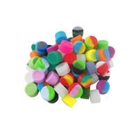 Gros-100pcs / lot boîte de pot d'huile de silicone contenant 3ml récipient petit cylindre pots de silicone non bâton dab pour fumer de vape