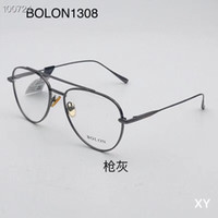 New Fashion Men Optical Frame Glasses Rimless Gold Metal Buf...