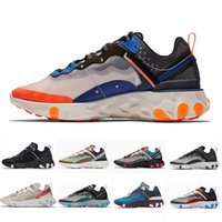 Nike Epic React 87 shoes total Total Orange SOUS-COUVERT x Prochainement React Element 87 Chaussures de course à pied Blue Chill Sail Vert Mist Trainer designer Baskets de sport