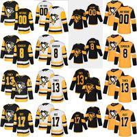 Personalizado Notícias Pittsburgh Penguins Jersey 9 Evan Rodrigues 12 Patrick Marleau 17 Bryan Frold 27 Nick Bjugstad Hockey Jerseys