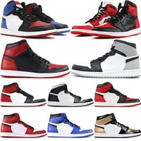 1 High OG Mens Basketball Shoes Banned Bred Shadow Gold Top ...
