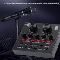V8 Audio USB Внешняя звуковая карта Гарнитура Микрофон Тенсист Личная Развлечения Streamer Live Troadcast Для ПК Телефон