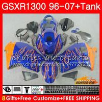 Kit für SUZUKI GSXR 1300 1996 2002 2003 2004 2005 2006 2007 orange blau 24NO.52 GSXR-1300 Hayabusa GSXR1300 96 02 03 04 05 06 07 Verkleidungen