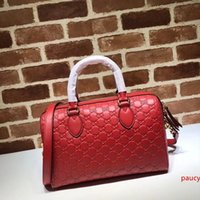 2020 Top Quality Brand design Letter embossing Zipper Shoulder Bag Real Cowhide Leather Woman 453573 Pillow Travel bag