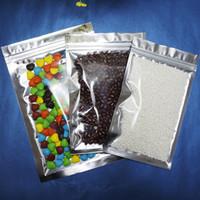 Återförslutbar ziplås aluminiumfoliepåse / 100 x 20 * 30cm silverplätering aluminiumpaket kokosnötspackning påse, främre sida transparent mylar säck