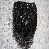 Verworrenes lockiges Klipp in den Menschenhaar-Verlängerungen 8pcs Klipp in den Verlängerungen Brasilianisches Remy Haar 100% Menschenhaar