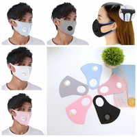 Ice silk cotton mask with breathable valve mouth cover Washable Mask breathable dustproof PM2.5 Protective Masks Designer Mask FFA4037