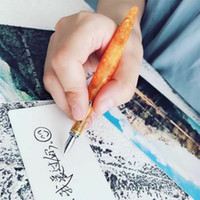 FULIWEN LOVE Orange Resin Fountain Pen Converter Pen Fine Ni...