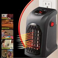 400 / 900W Calentador eléctrico de mini ventilador Calentador de escritorio domésticos de pared práctico de calefacción Estufa Máquina Radiador Calentador de invierno