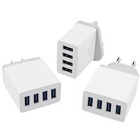 4 Port rapide Charge rapide QC3.0 Hub USB Chargeur adaptateur US / EU Plug