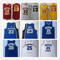 Erkek Basketbol NCAA # 13 James Harden Arizona Eyalet Güneş Devils # 25 Penny Hardaway Memphis Devlet Kaplanlar # 23 Derrick Rose Koleji formaları
