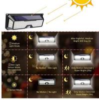 136LED 1300LM 센서 태양 정원 조명 방수 PIR 모션 야외 LED 태양 램프 3 모드 보안 풀 문 태양 조명