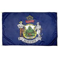 Мэн государственного флага 3x5FT 150x90cm полиэстер печать Крытая Открытая Висячие горячий продавая национальный флаг с латунными креплениями Free Shippin