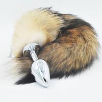 New Big Aço Inoxidável Gato Fox Cosplay Brinquedos Do Sexo Anal de Metal Butt Plug Cauda Do Cão Y190714