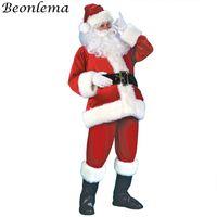 Tema Kostüm Beonlama Yetişkin Noel Kostümleri Hombre Kadınlar Tatil Kutlaması Noel Baba Cosplay Disfraz Performans Disfraces Adulto