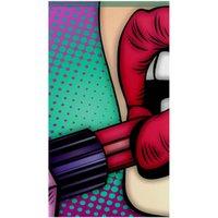 Flaming Lips Полного Дрель DIY 5D Круглый Rhinestone вышивка Алмазной Картина Лошади вышивку крест наборы Mosaice орнаментального