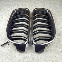 Пара 2 строки двойной Slat Guille Grille Grille подходит для BMW 3 серии F30 F35 ABS M цветных автомобилей передних решеток 2012-в