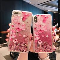إلى iPhone XS Max XR 7 Plus 8 Luxury الرمال المتحركة Case Liquid Bling Star صلب TPU TPU Glitter Case for Samsung S10 S10plus in Bulk