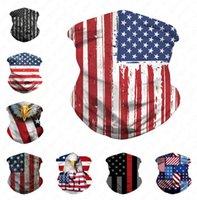 3D الأمريكي العلم الوطني مطبوعة قناع الوجه أقنعة تنفس باندانا نصف الوجه وشاح العصابة الدراجات UV الغبار حماية الرياح قناع D52707