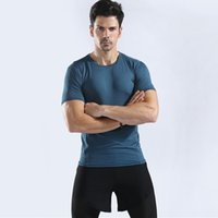 2020 the new Quick Dry Compression Men's Short Sleeve T-Shirts Running Shirt Fitness Tight Tennis Soccer Jersey Gym Sportswear
