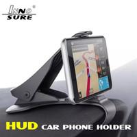 HUD görünümü Araç Pano Cep Telefonu Parantez Düz GPS Navigasyon Smartphone Emniyetli Sürüş için 360 derece döndürün Standı Looking