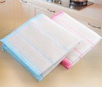 paños de limpieza para el hogar herramientas de limpieza de limpieza Paño de cocina absorbente grueso paño de microfibra toalla de cocina Tabla anti plato del aceite 0048