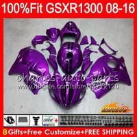 Inyección para SUZUKI Hayabusa GSXR1300 08 18 GSXR 1300 25HC.170 GSXR-1300 2008 2009 new purple 2010 2011 2012 2013 2014 2015 2016 Carenado