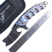 Hombre de guerra VG10 cuchilla 100% Sistema de cojinete de bolas manija de la aleación de titanio plegable regalo navaja de bolsillo cuchillo navidad para el hombre 1pcs Adru