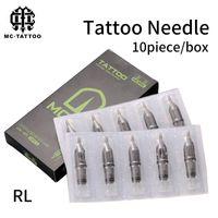 10pcs aiguilles de cartouche de tatouage jetables RL aiguille stérile pour stylo rotatif pour liner fournitures livraison gratuite