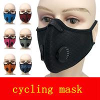 Подвесной уха Велоспорт маска сетки клапан Открытый Dust-Proof Анти Смог многоразовый Мужской Женский Маска с РМ2,5 фильтра дизайнер маски FFA4108