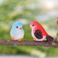 Cartoon Mini Uccello miniatura Parrot Figurine giardinaggio resina vegetale mestiere ornamento regalo Cactus Succulente in vaso Decor Accessori Fairy Garden