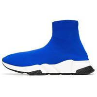 뜨거운 판매 - 럭셔리 디자이너 양말 신발 속도 트레이너 블랙 레드 배 흰색 반짝이 플랫 양말 부츠 브랜드 운동화 러너 36-45