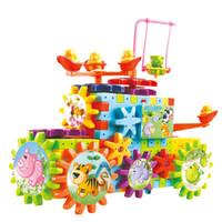 Montessori gear electric building blocks for kids modelo 3D juguete de Montaje educativo 81 unids niños niños niñas juguetes DIY regalos
