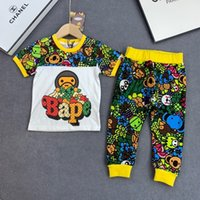Two Piece Outfits Children Suit 2019 New Short Sleeve Catami...