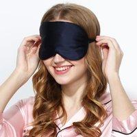 100% Máscara Mulberry Silk sono Eyepatch Eyeshade tampa do olho Sombra remendo Soft Care Confortável Saúde portátil viagem Blindfold